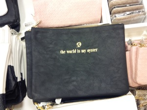 This would be perfect to keep my travel toiletries organized, and I adore the quote on it.