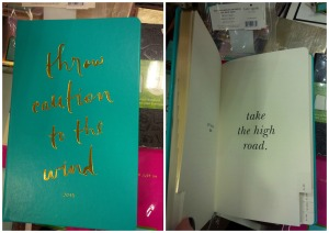 One of the two agendas by Kate Spade I am coveting. I love the gold font, and inspiring quote.