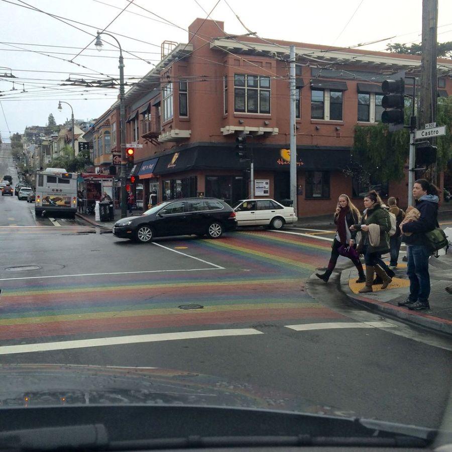 The crosswalks in the Castro district even have rainbows!
